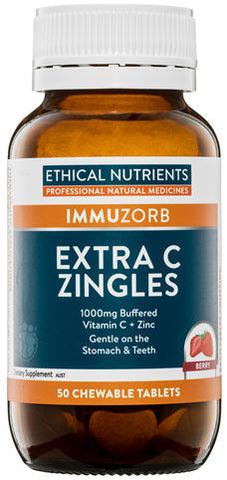 Ethical Nutrients Extra C Zingles Chewable Tablets (Berry) 50
