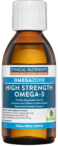 Ethical Nutrients Hi-Strength Liquid Fish Oil Fresh Mint 170ml - New Zealand Only