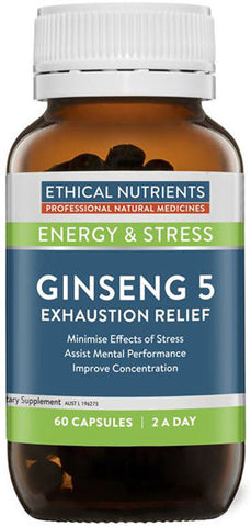Ethical Nutrients Ginseng 5 Exhaustion Relief Capsules 60
