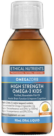 Ethical Nutrients Hi-Strength Liquid Fish Oil For Kids 90ml
