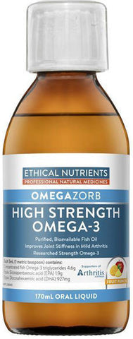 Ethical Nutrients Hi-Strength Liquid Fish Oil Fruit Punch 170ml - New Zealand Only