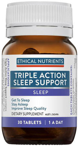 Ethical Nutrients Triple Action Sleep Support Tablets 30