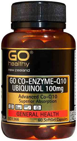 GO Healthy GO Co-Enzyme Q10 Ubiquinol 100MG Capsules 60