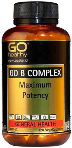 Go Healthy GO B Complex Maximum Potency VegeCaps 120