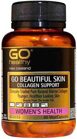 Go Healthy GO Beautiful Skin Collagen Support Capsules 60