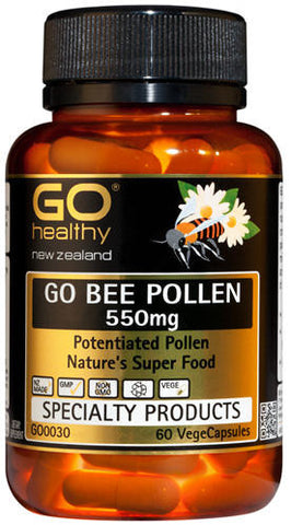 Go Healthy GO Bee Pollen 550mg Capsules 60