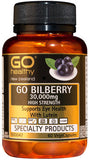 Go Healthy GO Bilberry 30,000 High Strength Capsules 60