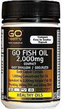 Go Healthy GO Fish Oil 2,000mg Compact Odourless Softgel Capsules 90