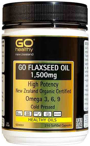 Go Healthy GO Flaxseed Oil 1,500mg Capsules 210