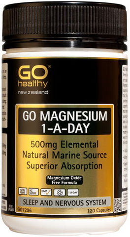 Go Healthy GO Magnesium 500mg 1-A-Day Capsules 120