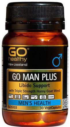 Go Healthy GO Man Plus Libido Support Capsules 30