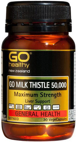 Go Healthy GO Milk Thistle 50,000mg Capsules 30