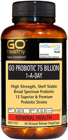 Go Healthy GO Probiotic 75 Billion 1-A-Day Capsules 60