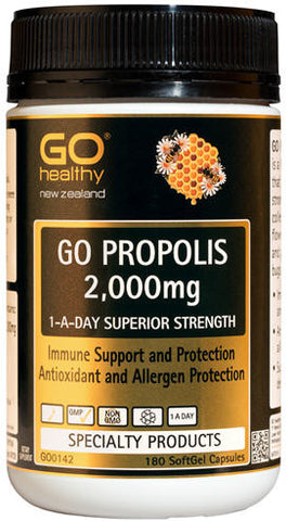 Go Healthy GO Propolis 1-A-Day 2,000mg SoftGel Capsules 180