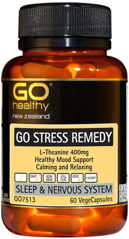 Go Healthy GO Stress Remedy L-Theanine 400mg Capsules 60