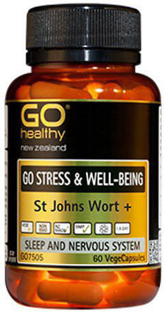 Go Healthy GO Stress & Well-Being St Johns Wort + Capsules 60