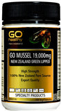 Go Healthy GO Mussel 19,000 New Zealand Green Lipped Mussel Capsules 100