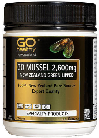 Go Healthy GO Mussel 2,600mg New Zealand Green Lipped Mussel Capsules 300