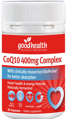 Good Health CoQ10 400mg Complex Capsules 25