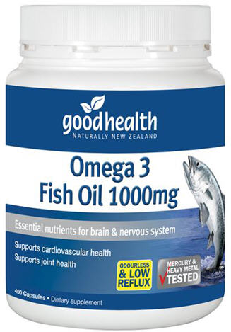 Good Health Omega 3 Fish Oil 1000mg Capsules 400 - New Zealand Only