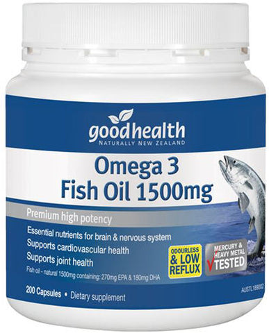 Good Health Omega 3 Fish Oil 1500mg Capsules 200