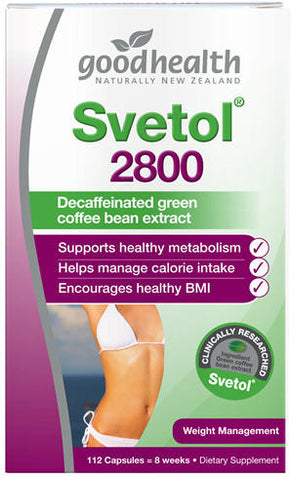 Good Health Svetol 2800 Decaffeinated Green Coffee Bean Extract 112 Capsules
