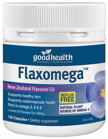 Good Health Flaxomega Flaxseed 1000mg Capsules 150