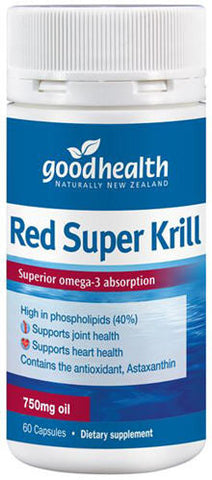 Good Health Red Super Krill 750mg Capsules 60