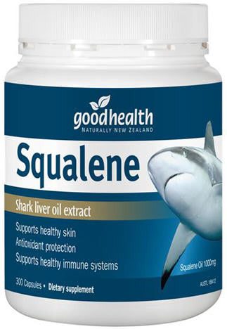 Good Health Squalene Shark Liver Oil Extract 1000mg Capsules 300