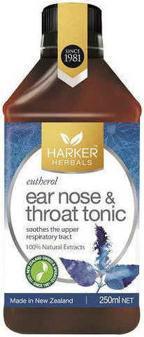 Harker Herbals Ear, Nose & Throat Tonic - Eutherol 250ml