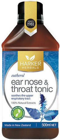 Harker Herbals Ear, Nose & Throat Tonic - Eutherol 500ml
