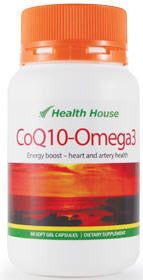Health House CoQ10-Omega3 Softgel Capsules 60