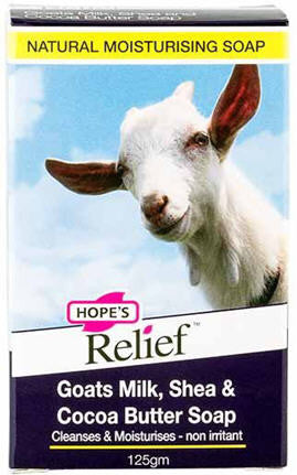 Hope's Relief Goats Milk, Shea & Cocoa Butter Soap 125g