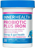 Inner Health Probiotic Plus Iron Capsules 30