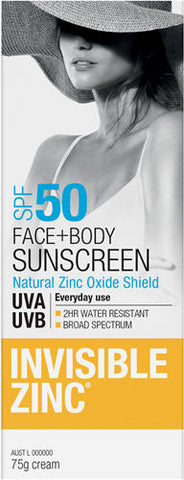 Invisible Zinc SPF50 Face and Body 75g