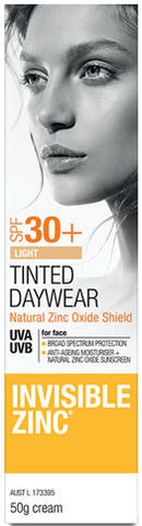 Invisible Zinc SPF30+ Tinted Daywear Cream Light 50ml