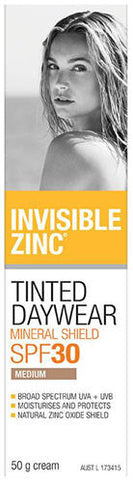 Invisible Zinc SPF30+ Tinted Daywear Cream Medium 50ml