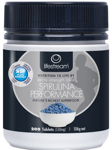 Lifestream Spirulina Performance Blue Extra Strength Tablets 200