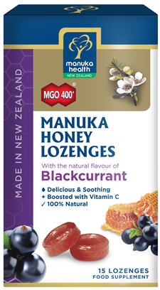 Manuka Health Manuka Honey Blackcurrant Lozenges 15