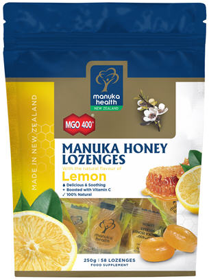 Manuka Health Manuka Honey MGO™ 400+ Lemon Lozenges 250g