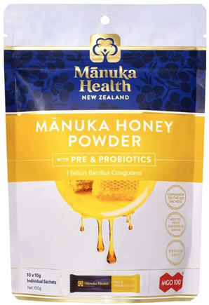 Manuka Health Manuka Honey Powder with Prebiotics & Probiotics 10 x 10g