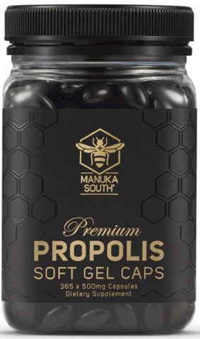 Manuka South Propolis 500mg Soft Gel Capsules 365