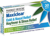 Maxiclear Hayfever and Sinus Relief Tablets 30