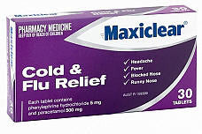 Maxiclear Cold and Flu Relief Tablets 30