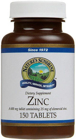 Nature's Sunshine Zinc 25mg Tablets 150