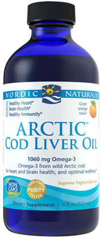 Nordic Naturals Cod Liver Oil Natural Orange Flavour 237ml