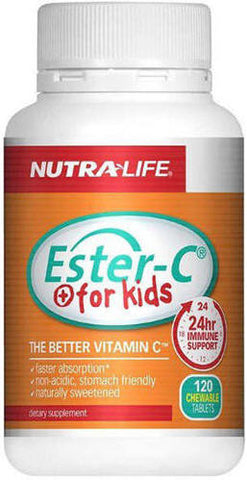 Nutra-Life Ester C For Kids 100mg Chewable Tablets 120
