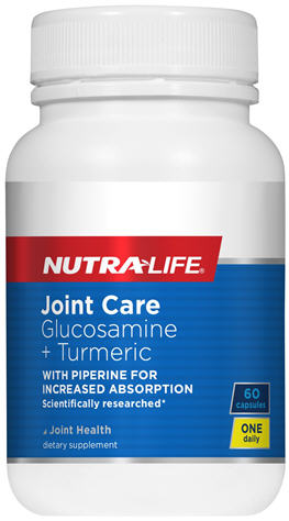Nutra-Life Joint Care Glucosamine + Turmeric Capsules 60