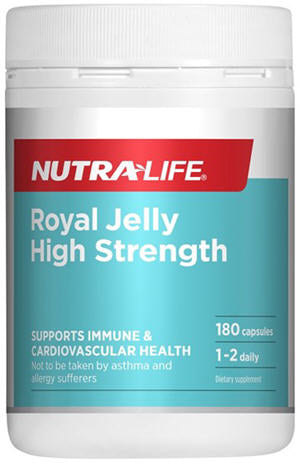 Nutra-Life Royal Jelly High Strength Capsules 180