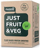 Nuzest Just Fruit & Veg Plant Based Protein Smoothie Cacao Mint Sachets 25g x 10